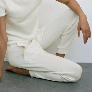 NWT Zara Ecru High Waist Jogging Pants, L